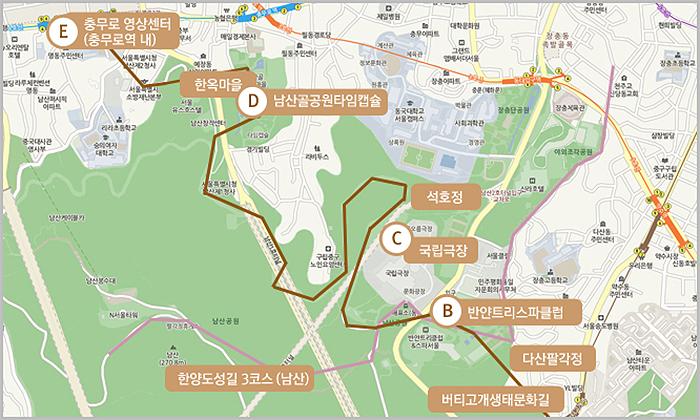 지하철 5678 도보여행 - 6호선 버티고개역