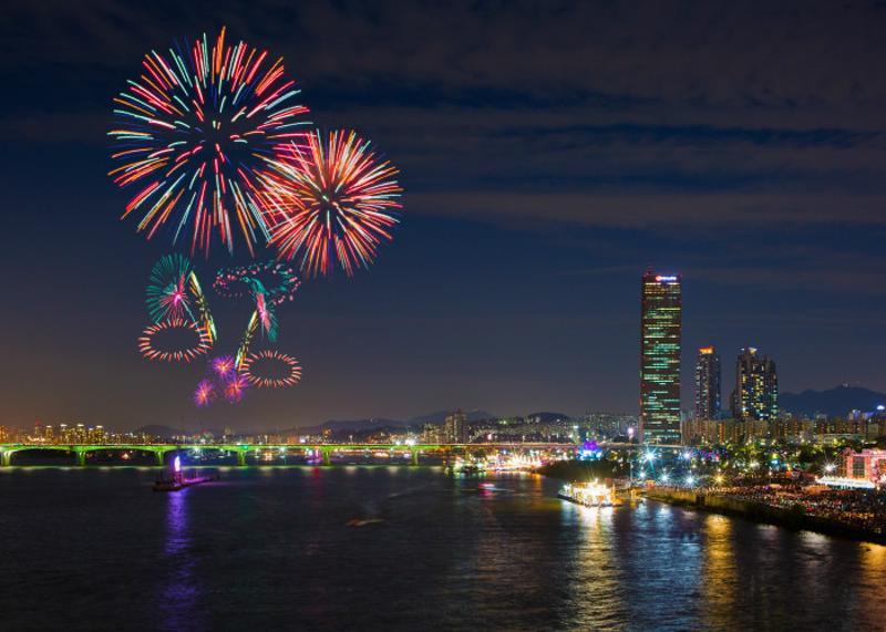 Festival international des feux d'artifice de Séoul ©korean.visitseoul.net