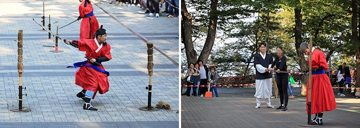 防弾少年団おすすめの七色ソウル_JINおすすめの_historic_seoul_ナムサン_南山烽火儀式_伝統文化公演