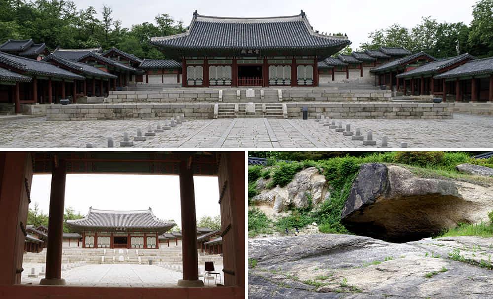 Gambar 3 sisi berbeza Gyeonghuigung Palace