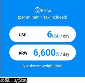 LugStay費用畫面,來源:LugStay