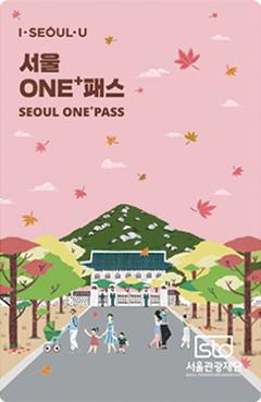 서울ONE+패스 단풍잎 그림 카드