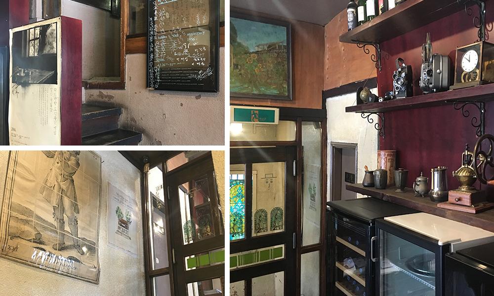 Interior & exterior of the cafe