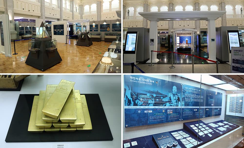 Gabungan empat gambar Bank of Korea Money Museum