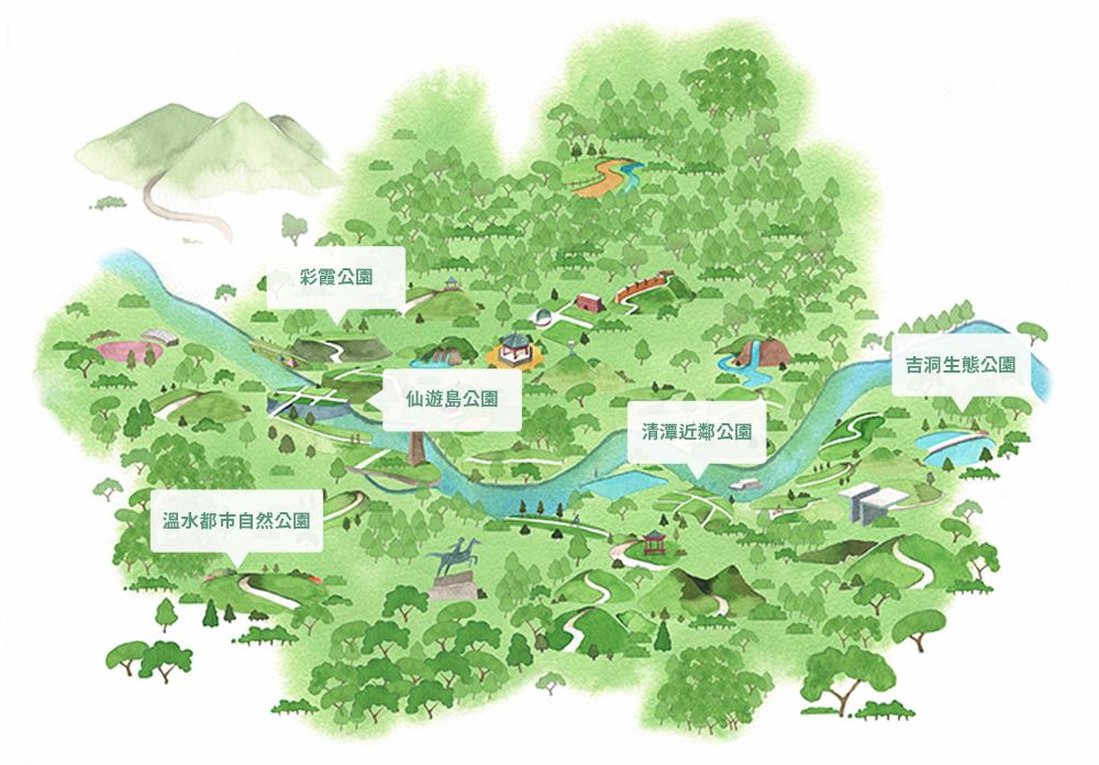 五座公園地理位置圖片
