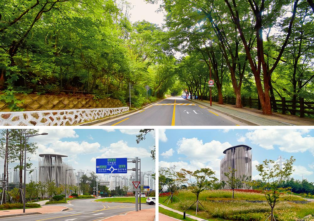 華克山莊延續至廣津森林渡口的兜風路線與廣津森林渡口全景照片