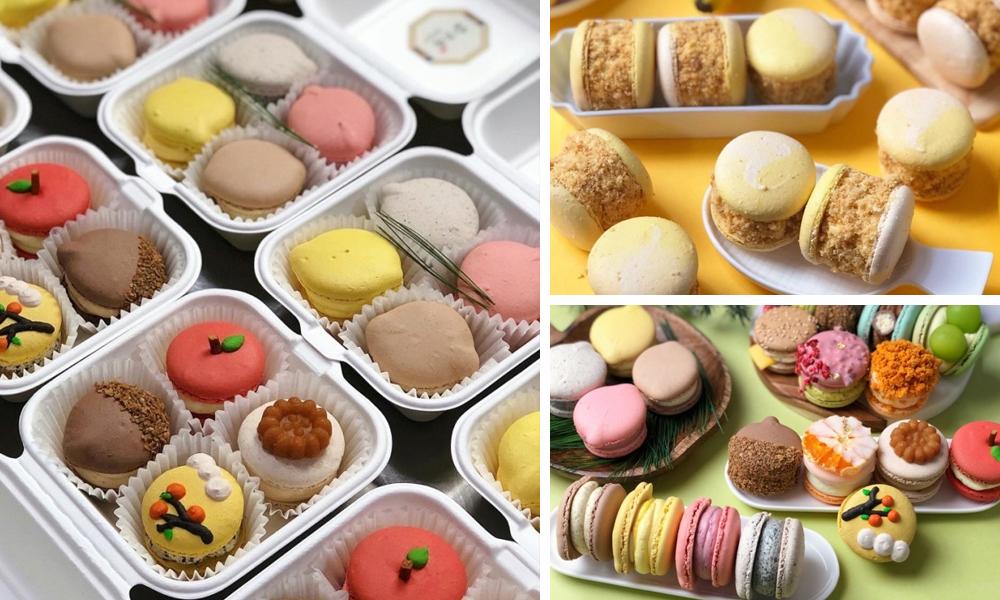 Macaron varieties on display at By Jae Jaee Bakery