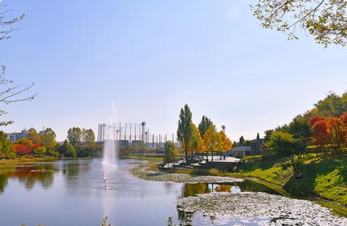 호수가 있는 서울의 공원 이미지