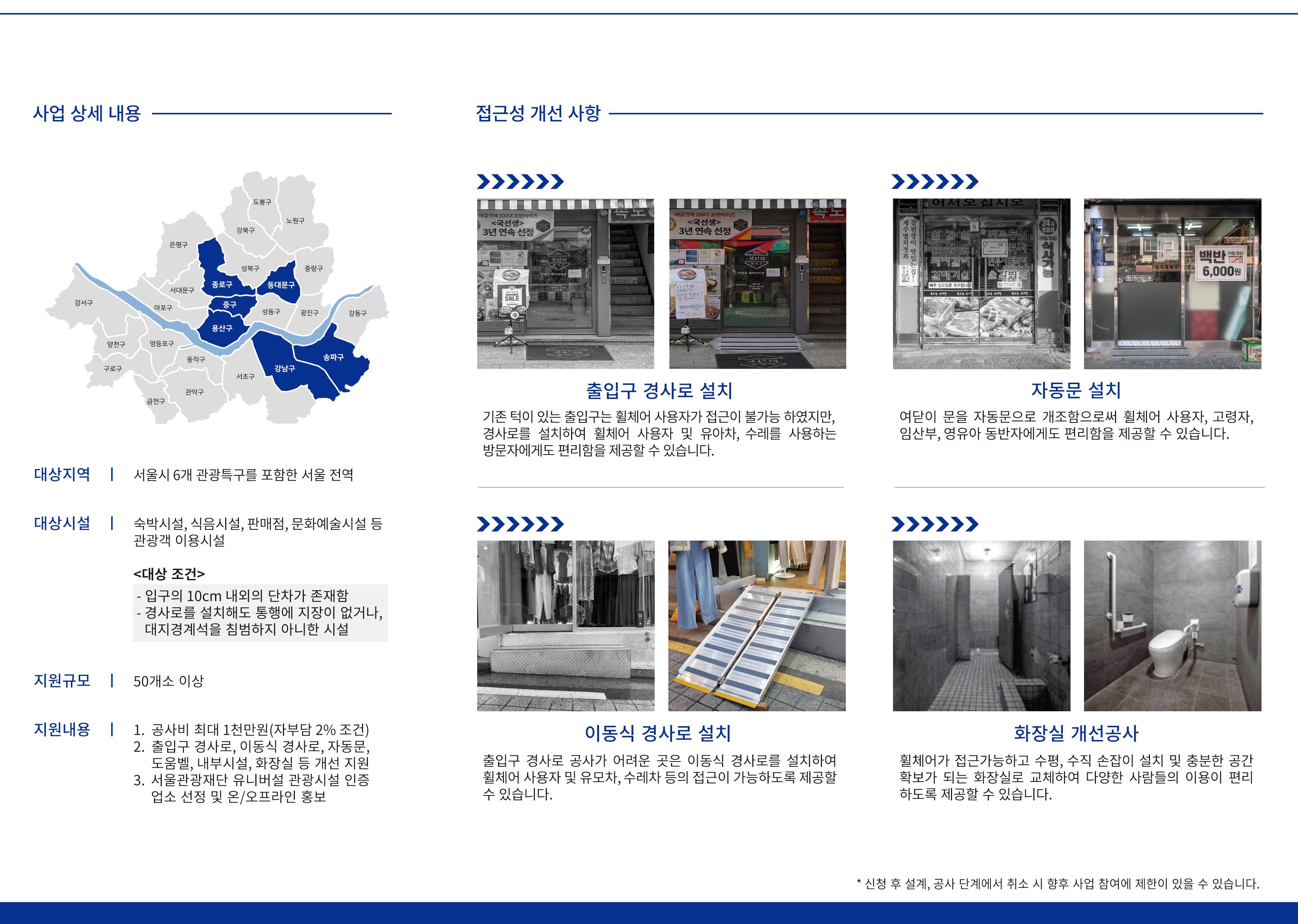 2021 관광약자를 위한 관광편의시설 접근성 개선사업 신청안내 리플릿 2페이지