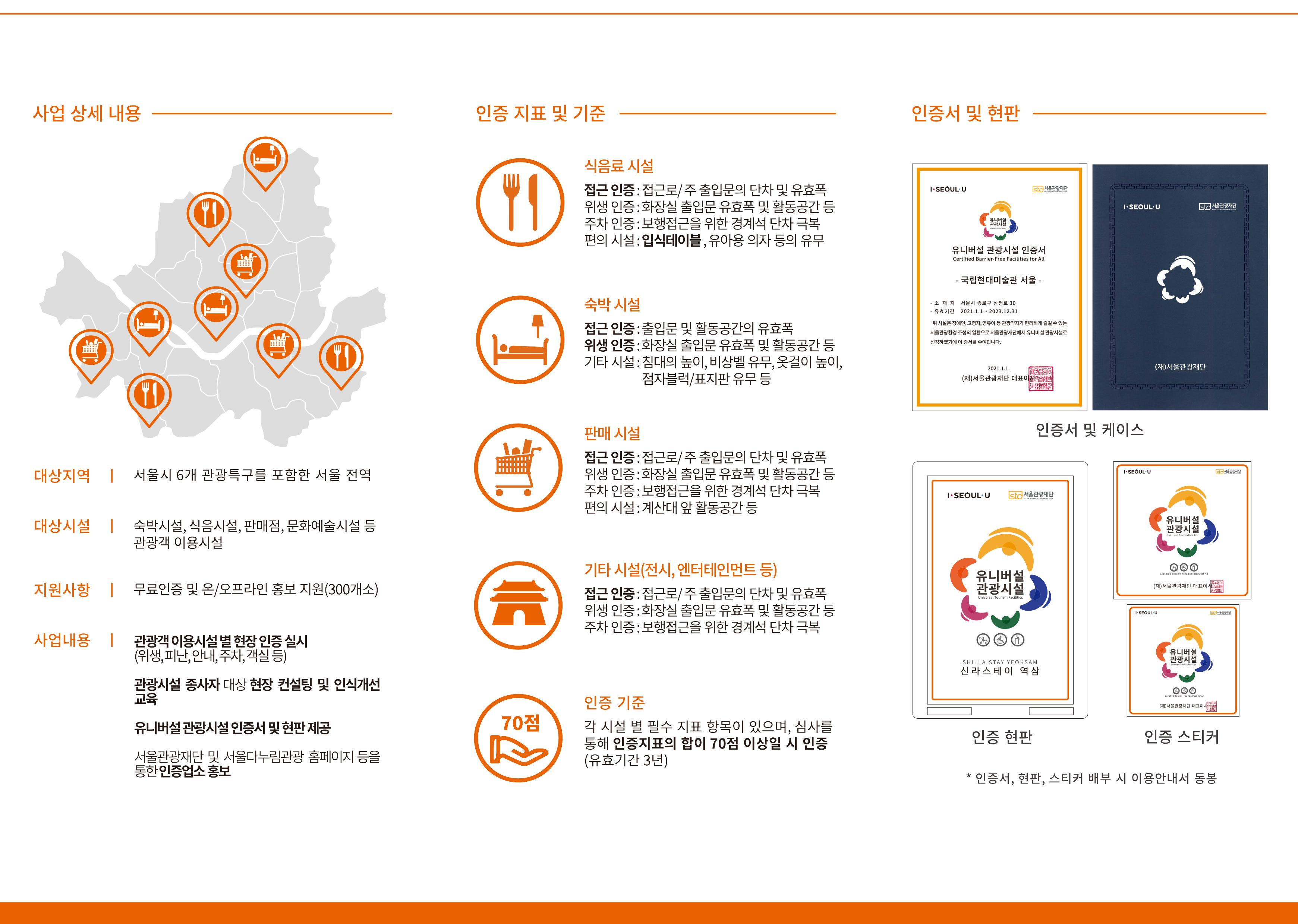 2021 유니버설 관광시설 인증제 신청안내 리플릿 2페이지