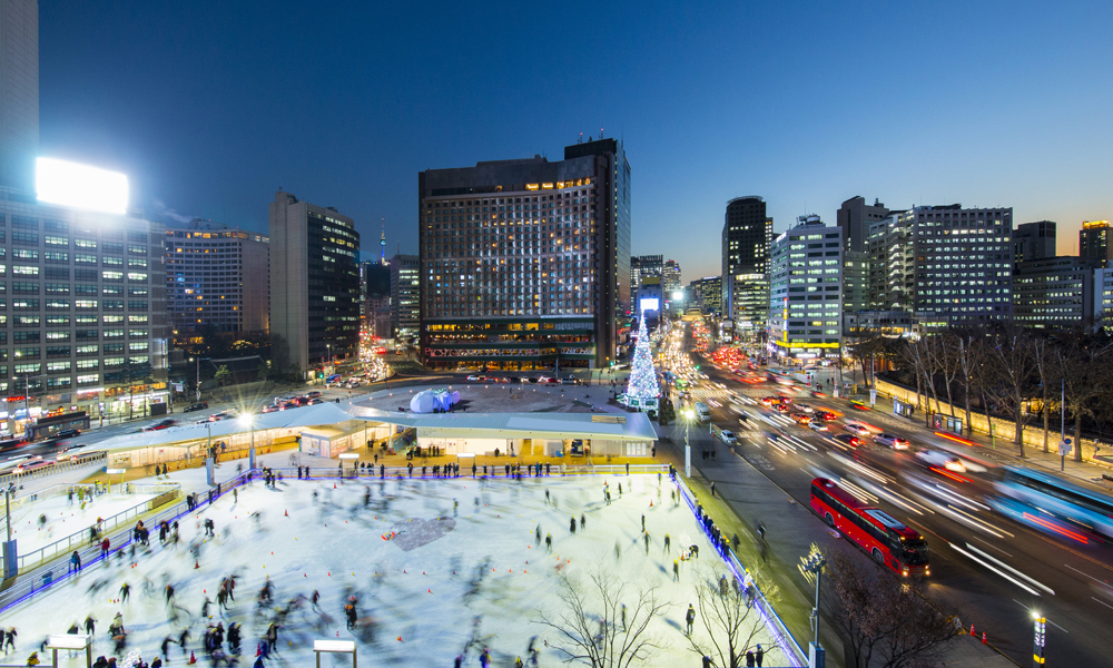 Seoul Plaza Ice Skating Rink
